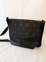 Handtasche Punkte schwarz