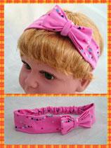 Haarband pink Dreieck mit Schleife