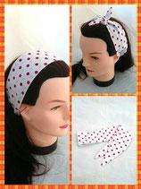 Haarband zum knoten weiß Punkte