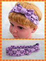 Haarband lila Panda mit Schleife