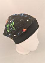 Beanie schwarz mit Neon Sterne