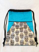 Turnbeutel/Rucksack Skull blau