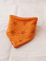 Dreieckstuch Sterne orange