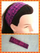 Haarband pink/blau meliert