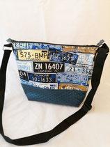 Handtasche Schilder blau