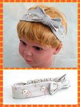 Haarband Einhorn grau mit Schleife