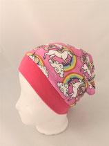 Beanie pink Regenbogen Einhorn
