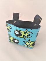 Roller / Laufrad- Tasche Flamme blau