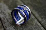 Bracelet manchette XL Fais de tes rêves une réalité - Bleu