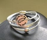 Bracelet multiliens Porto argent et blanc