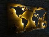 "Weltkarte aus Holz ""Kontinenter"" Bausatz"