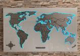 Weltkarte Neon