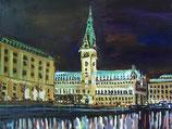 """Bild """"Rathaus, Nacht"""""""