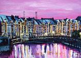 """Bild """"Speicherstadt, pink"""""""