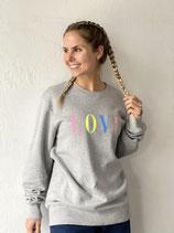 Love Sweater grau