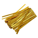 Metallic Gold Twist Ties, 100