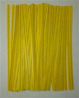 Yellow Paper Twist Ties, 100