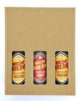 Geschenkkarton, passend für 3 Flaschen Wilde Hilde