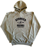 "Hoodie Grau ""Atomics EST 1995"""