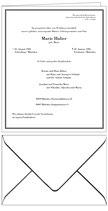 Todesanzeige - Faltblatt 212 x 173 mm