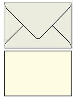 Trauer-Kuverts, schwarzem Rand