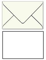 Trauer-Kuverts, hochweiß, schwarzem Rand