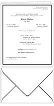 Traueranzeige - Faltblatt 212 x 173 mm