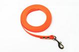 Biothane Leine, 9mm, orange,                                                                         wählbar mit- und ohne Handschlaufe