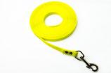 Biothane Leine, 16 mm, neon gelb, wählbar mit und ohne Handschlaufe