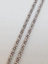 Criss-Crosskette Silber rhodiniert 1,0 mm