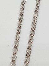 Erbsenkette Silber rhodiniert 1,8 + 2,2 mm