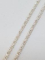 Criss-Crosskette Silber 1,0 mm