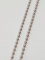 Kugelkette Silber rhodiniert 1,5 mm