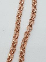 Erbsenkette Silber rotgold-vergoldet 2,2 mm