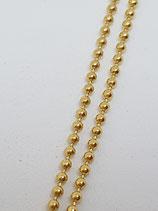 Kugelkette Silber vergoldet 1,5 mm