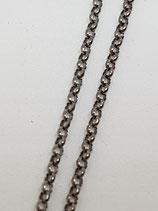 Erbsenkette Silber geschwärzt 1,8 mm