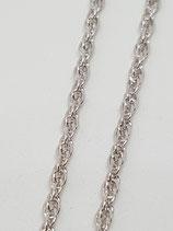 Kordelkette Silber rhodiniert 2,35 mm