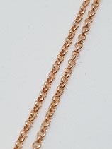 Erbsenkette Silber rotgold-vergoldet 1,8 mm