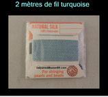 fil bleu clair turquoise pour enfillage de collier perle