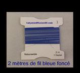 fil bleu marine pour enfillage de collier perle