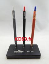 Assortiment de 3 outils a poser les aiguilles sur socle Bergeon 7404-S03