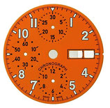 Cadran orange ø 30 mm
