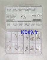 Assortiment Horotec 99.079 de 55 brides de piles ISA