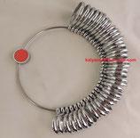 Baguier métallique anneaux bombés
