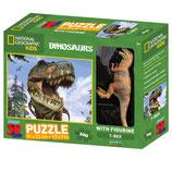 PUZZLE VISION 3D 100 PIEZAS CON FIGURA T-REX INCLUIDA. DAM