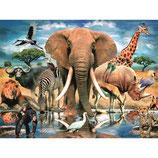 PUZZLE 500 PIEZAS 3D AFRICAN OASIS. DAM