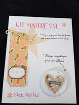 Kit Maîtresse magnet et marque page