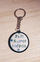 Porte clé Papi Super Héros