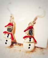 Boucles d'Oreilles Bonhomme de neige