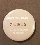 Badge magnétique Save the Date